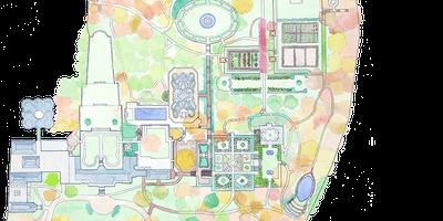 Garden Map Detail. Map art by Spencer Lenfield