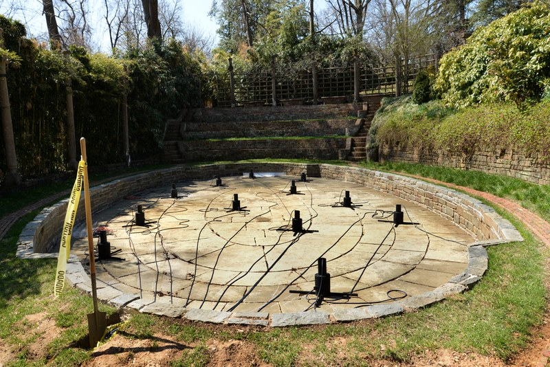Pool of 'Bamboo Counterpoint' under construction, April 10, 2014