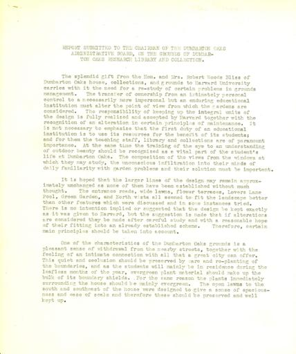 Beatrix Farrand to Harvard University, November 24, 1941