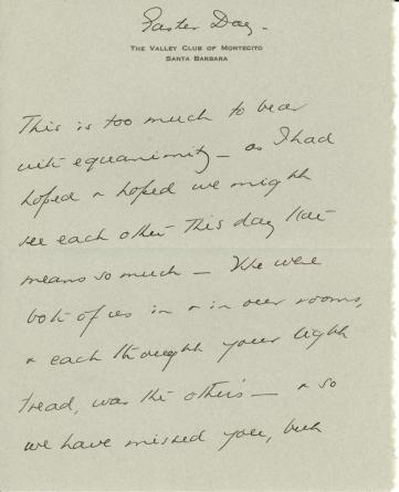 Beatrix Farrand to Mildred Bliss, April 5, 1942
