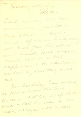 Beatrix Farrand to Mildred Bliss, December 30, 1941 (2)