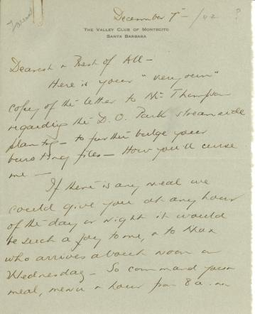 Beatrix Farrand to Mildred Bliss, December 7, 1942