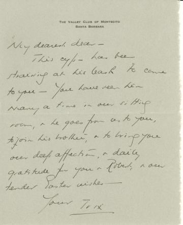 Beatrix Farrand to Mildred Bliss, Feburary 1942