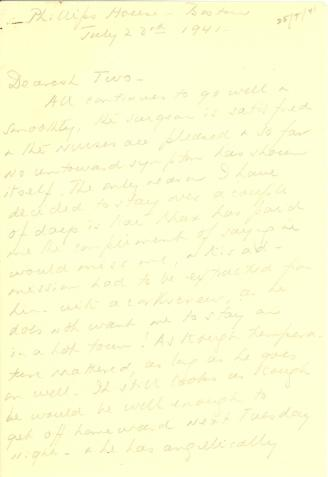 Beatrix Farrand to Robert and Mildred Bliss, July 23, 1941