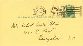 Caroline Phillips to Mildred Bliss, July 10, 1933