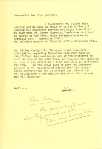 Note to Beatrix Farrand from Anne Sweeney (1)