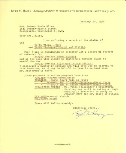 Ruth Havey to Mildred Bliss, January 20, 1952 (2)