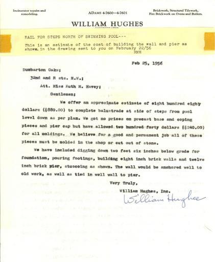 Estimates for brickwork and ironwork, February 25, 1956