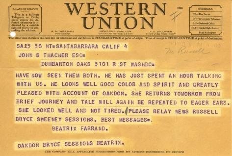 Beatrix Farrand to John Thacher, December 5, 1941