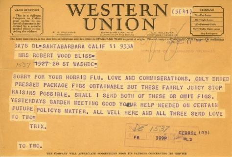 Beatrix Farrand to Mildred Bliss, December 11, 1943