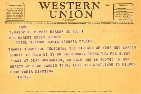 Beatrix Farrand to Mildred Bliss, July 2, 1946