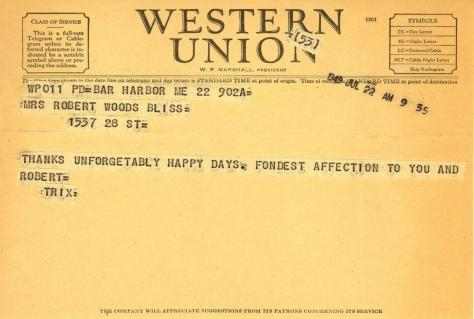 Beatrix Farrand to Mildred Bliss, July 22, 1949 (2)