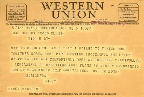 Beatrix Farrand to Mildred Bliss, June 5, 1942