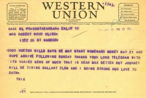 Beatrix Farrand to Mildred Bliss, May 10, 1945