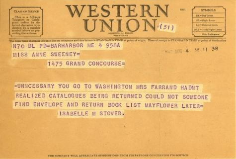 Isabelle Stover to Anne Sweeney, August 4, 1947 (1)
