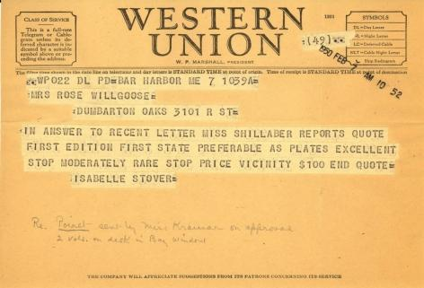 Isabelle Stover to Rose Willgoose, February 7, 1950