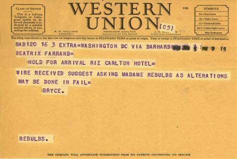 James Bryce to Beatrix Farrand, June 3, 1943