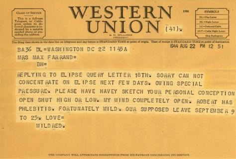 Mildred Bliss to Beatrix Farrand, August 22, 1944