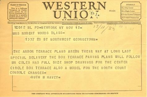 Ruth Havey to Mildred Bliss, November 13, 1955