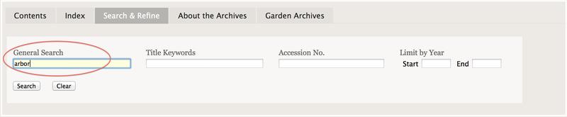 General Search Screenshot
