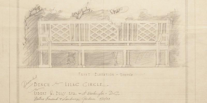 Slider-Lilac Circle Bench