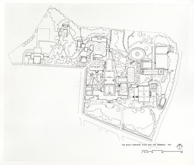 Bliss and Farrand plan for the Dumbarton Oaks Gardens, 1941