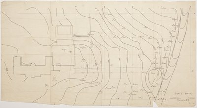 Topographical survey of Dumbarton Oaks property, 1922-1937