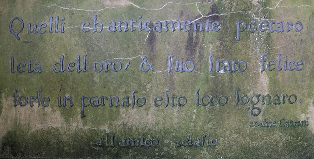 Arbor Terrace inscription