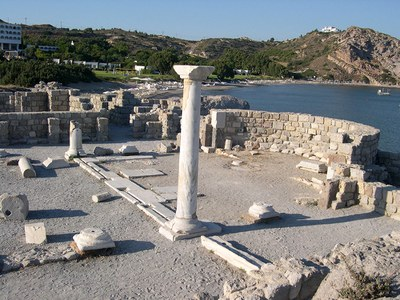 Fig. 2: Kos, Kephalos, St. Stephanos, southern basilica, the presbyterium (Baldini 2013–2014)