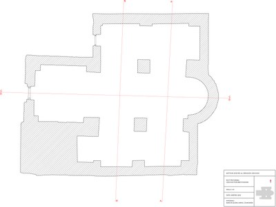 Fig. 8: Ground plan of the church with cross sections (Waliszewski and Chmielewski 2009–2010)