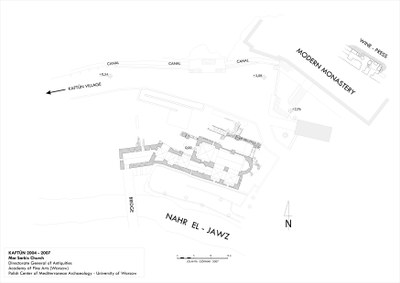 Fig. 3: General plan of the monastery and church in Kaftûn (Waliszewski and Chmielewski 2009–2010)