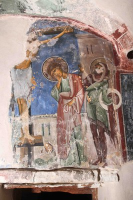 Fig. 4: Scene of the Crucifixion on the south wall of the Cell (Koukoulli and Fischer 2011–2012)