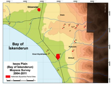 Fig. 5: Map of the Issos Plain (Killebrew 2010–2011)
