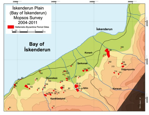 Fig. 7: Map of the İskenderun Plain (Killebrew 2010–2011)