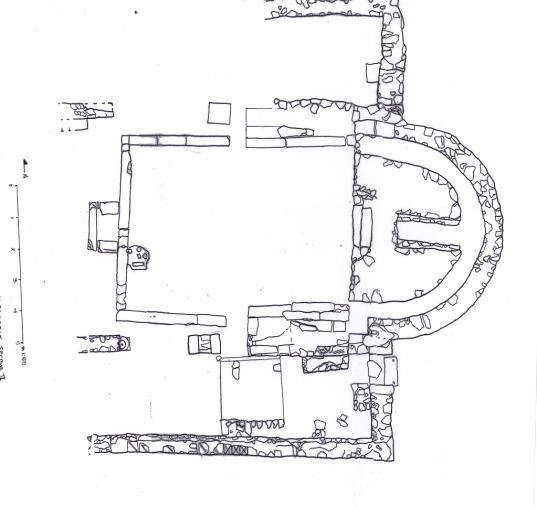 Fig. 11: Plan of apse and presbyterium (Snively 2009–2010)