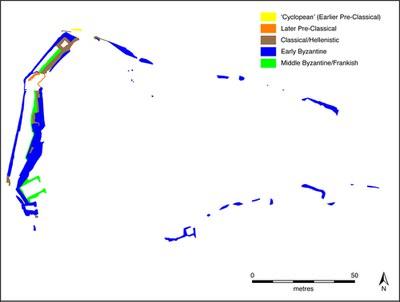 Fig. 1: Thisve/Kastorion, phases of the upper acropolis (Dunn 2012–2013)