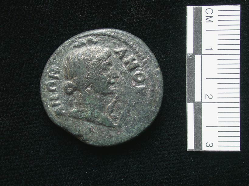 Fig. 1: Autonomous coin of the Amorium mint, mid-second century AD, showing a bust of Apollo with his lyre (Lightfoot 2006–2007)