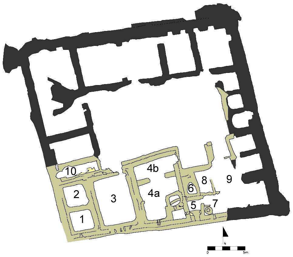 Fig. 3: Map of monastic residence B (Davis et al. 2006–2007)