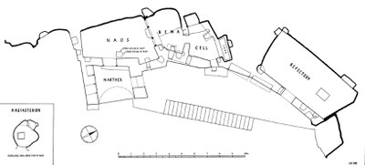 Fig. 1: Plan of the Enkleistra complex of St. Neophytos (Kakoulli and Fischer 2008–2009)