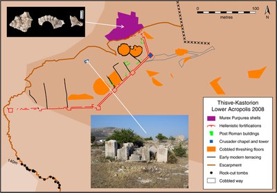 Fig. 5: Thisve/Kastorion, the Lower Acropolis (Dunn 2008–2009)