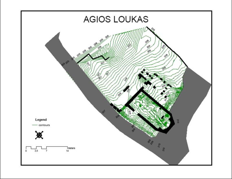 Fig. 6: Agios Loukas: Ground plan (all phases) after cleaning (Dunn 2008–2009)