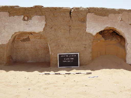 Fig. 7: Coptic dipinto on east face of west wall in Room 3 (Davis et al. 2007–2008)