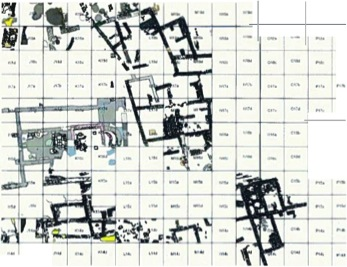 Fig. 3: Low-resolution screenshot from the ArcGIS database for the Byzantine phases of Kilise Tepe (Jackson 2011–2012)