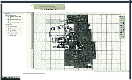Fig. 5: Low-resolution screenshot from the ArcGIS database for the Byzantine phases of Kilise Tepe (Jackson 2011–2012)