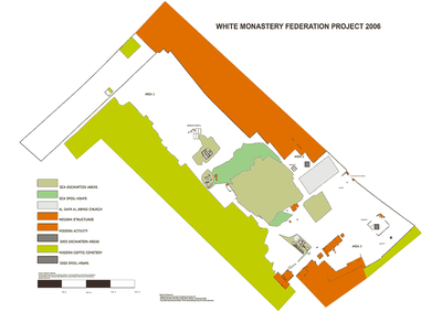 Fig. 1: Map of the White Monastery Site (Brooks Hedstrom 2006–2007)