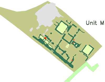 Fig. 4: Unit M mud brick buildings in Area 3 (Brooks Hedstrom 2006–2007)