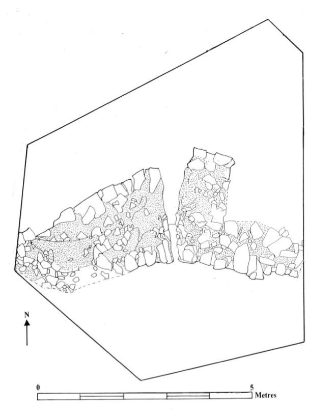 Fig. 14: Plan of the northeastern corner with external buttress, area B3 (Poulter 2010–2011)