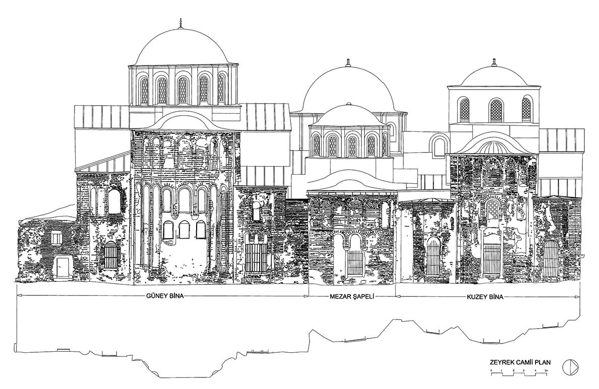 Fig. 1: Zeyrek Camii, east facade (Ousterhout 2005–2006)