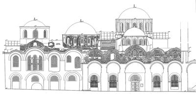 Fig. 2: Zeyrek Camii, west facade (Ousterhout 2005–2006)