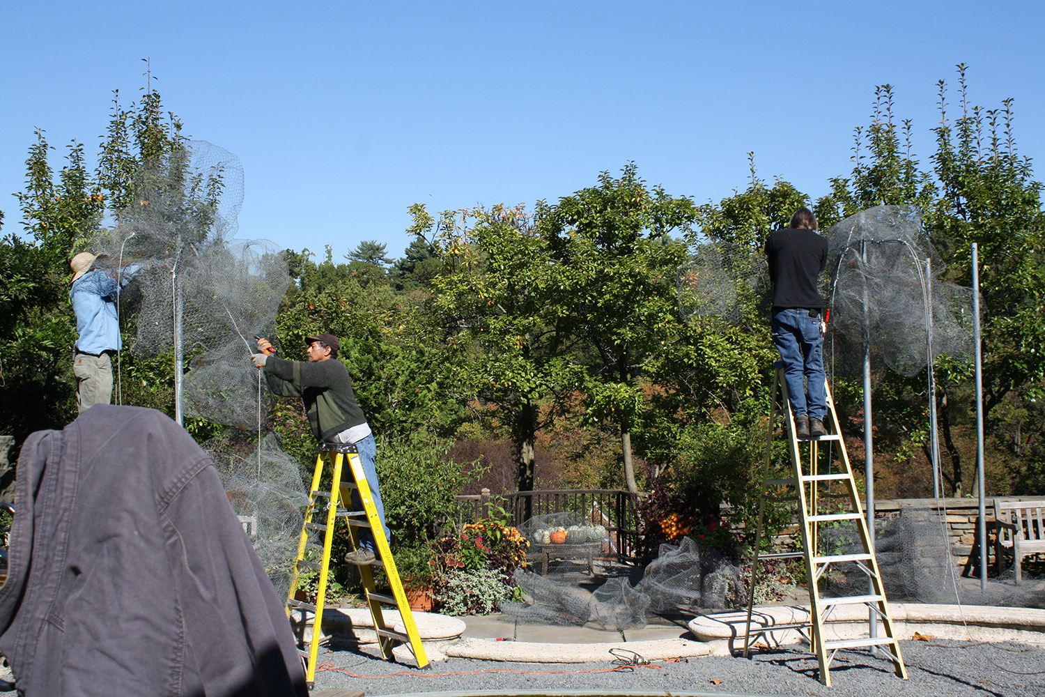 staff taking down Cloud Terrace, Oct. 2013